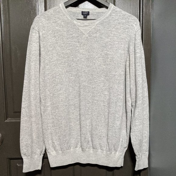 J. Crew Light Gray Men's Knit Pullover Sweater